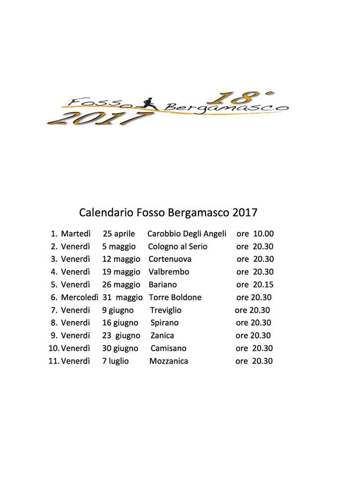 Calendario Fosso Bergamasco 2021 fosso bergamasco – Camisano running Cremona