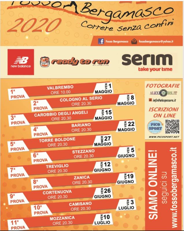 Calendario Fosso Bergamasco 2021 Fosso Bergamasco 2020 – Camisano running Cremona